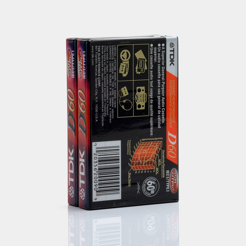 Blank Recordable Cassette Tapes (2-Pack)