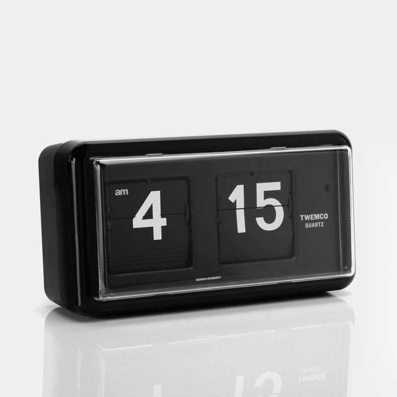 Twemco QT-30 Black Analog Flip Clock