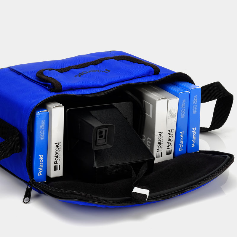 Blue Polaroid 600 Camera Bag