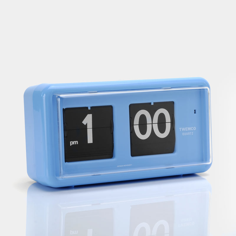 Twemco QT-30 Blue Analog Flip Clock