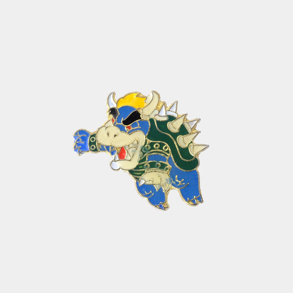 Bowser's Blue Brother 1988 Vintage Enamel Pin