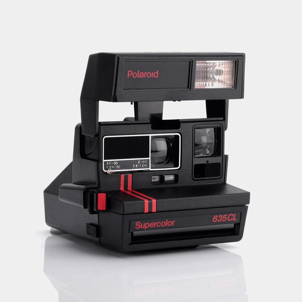 Polaroid 600 Supercolor 635 CL Red Stripe Instant Film Camera