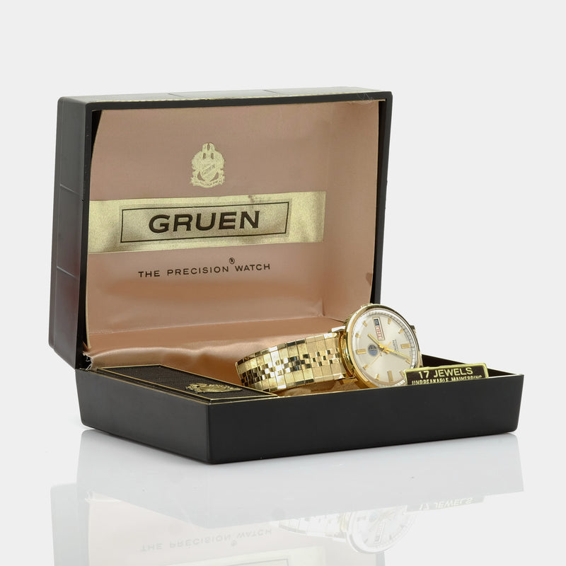 Gruen Saturn Day-Date Watch Circa Early 1960s