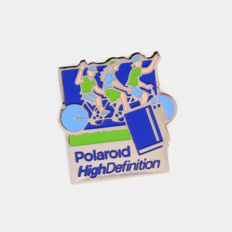 Polaroid High Definition Cycling Vintage Enamel Pin