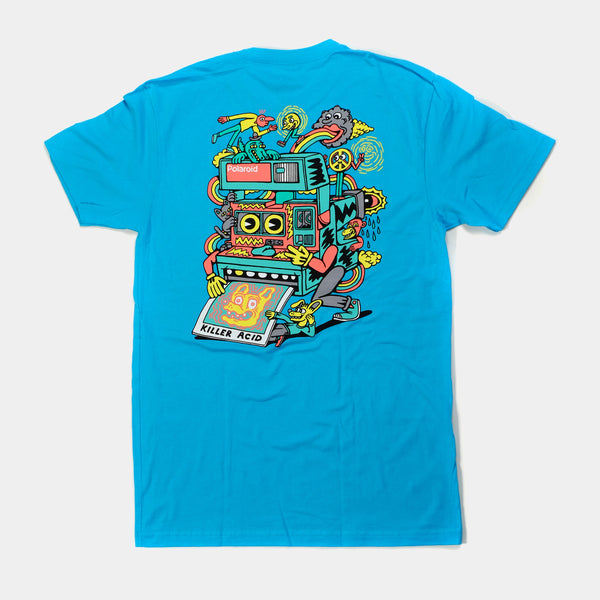 Killer Acid Polaroid T-Shirt - Teal