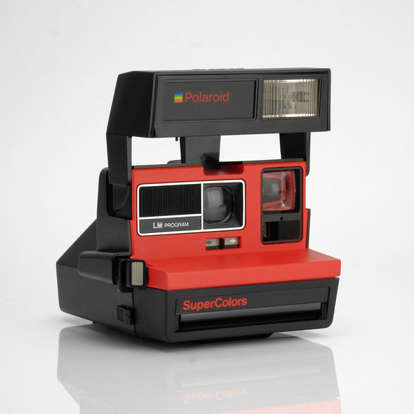 Refurbished Polaroid 600 Camera - Supercolors Red