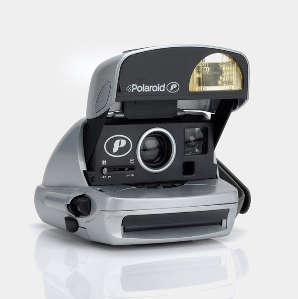 "Polaroid 600 Express ""P"" Plus Silver Instant Film Camera"