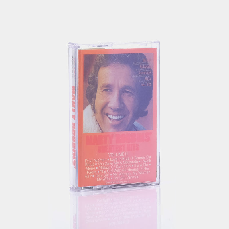 Marty Robbins - Greatest Hits Vol. III (1971) Cassette Tape