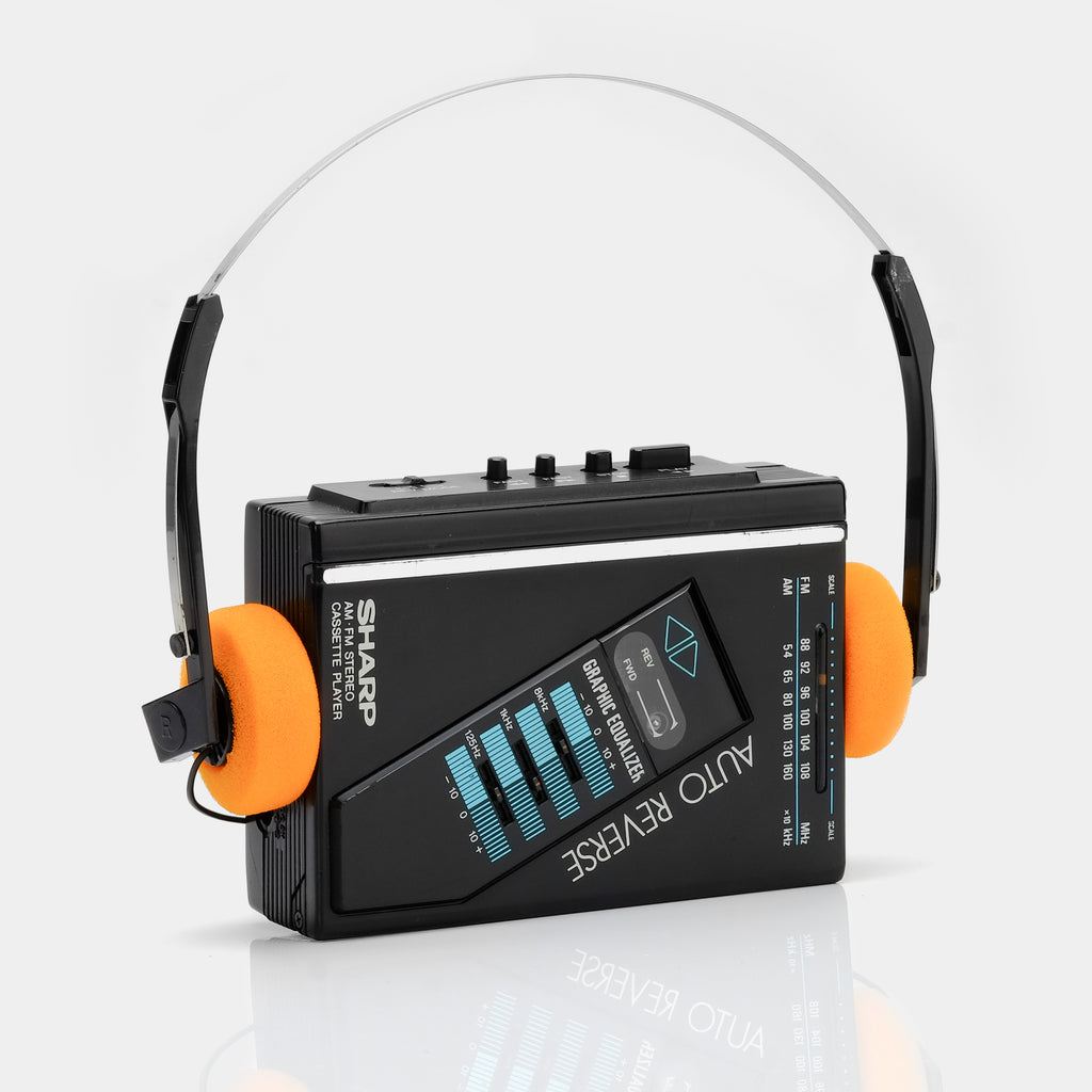 Sharp Auto Reverse Portable Cassette Player