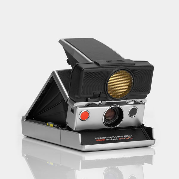 Polaroid SX-70 Camera - Chrome Sonar Autofocus