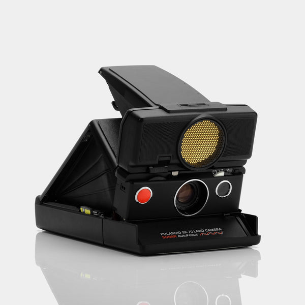 Refurbished Polaroid SX-70 Camera - Black Sonar Autofocus