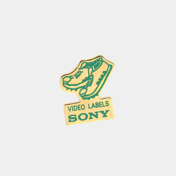 Sony Video Labels Vintage Enamel Pin
