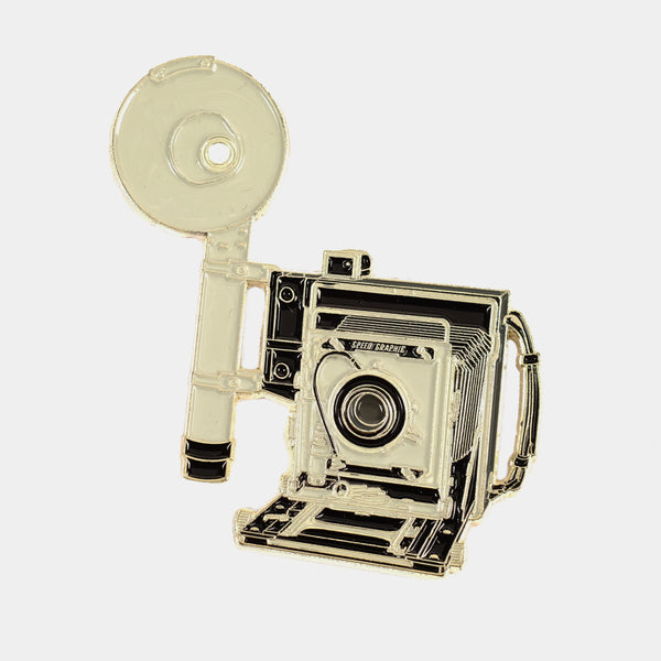 Large Format Graflex Speed Graphic Camera Enamel Pin
