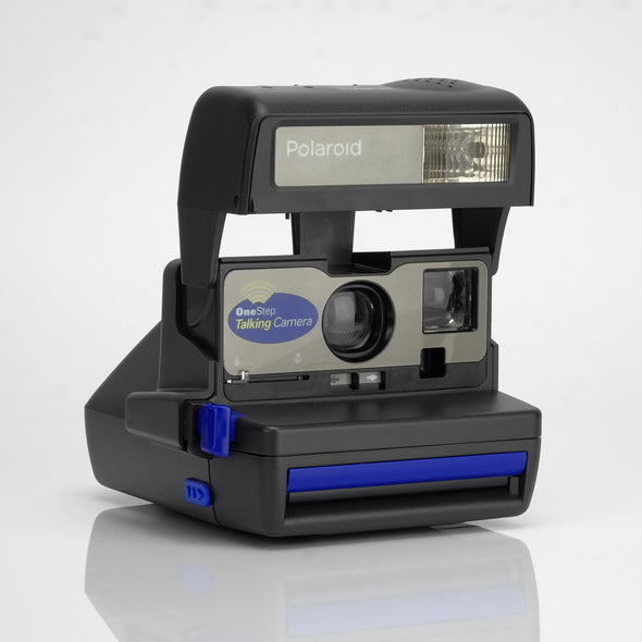 Refurbished Polaroid 600 Camera - Blue Talking Cam