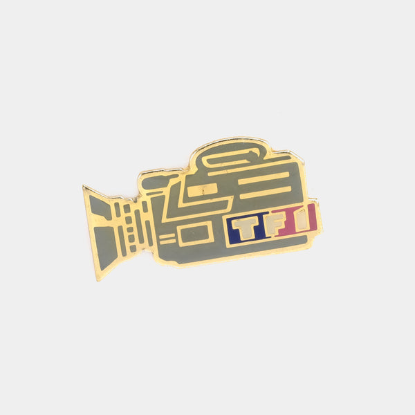 TF1 Video Camera Vintage Enamel Pin