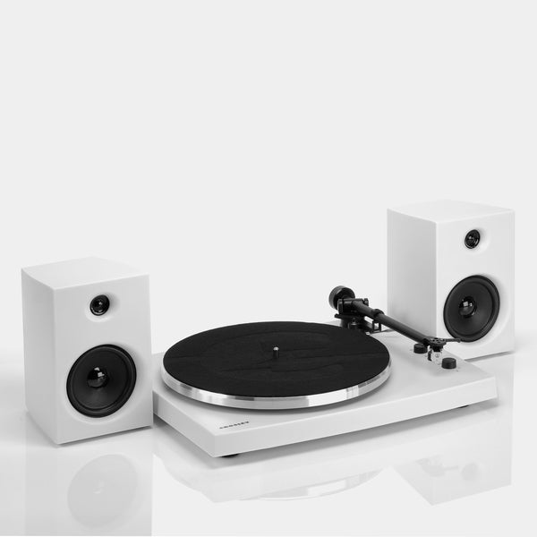 Crosley T150 Turntable and Speakers - White