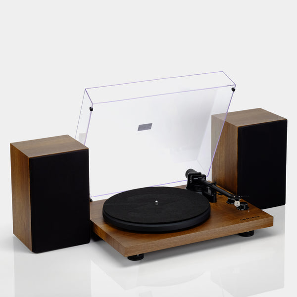Crosley C62 Shelf System Turntable and Speakers - Walnut