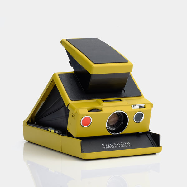Polaroid SX-70 Folding Camera - Mustard & Red