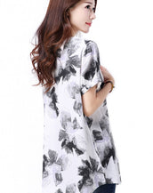 Gorgeous Floral Print Short Sleeve Tee For Woman
