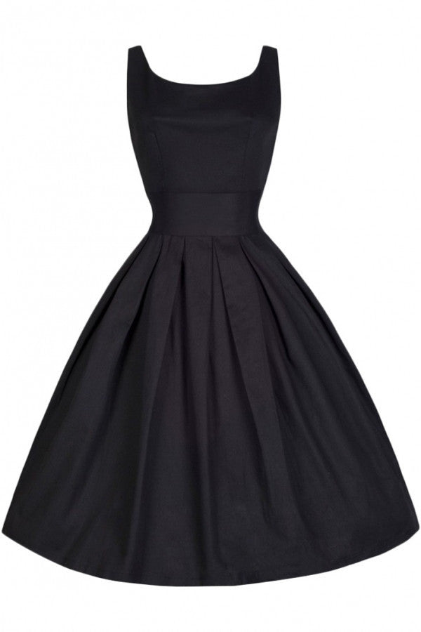 Elegant Scoop Neck Band Waist Dress