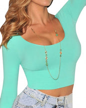 Brief Solid Seamless Perfect Fit Crop Top