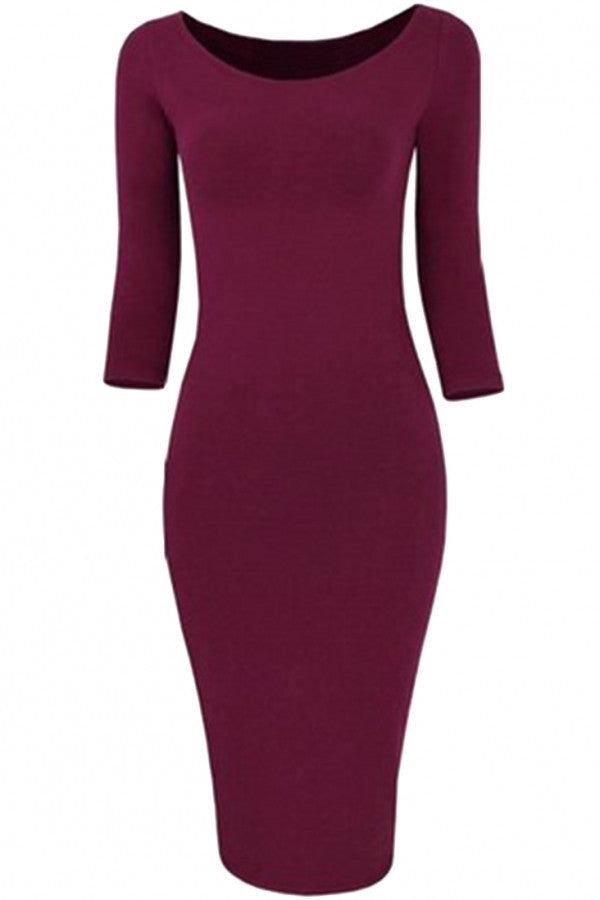 Classic Stretch Knit Body-con Dress