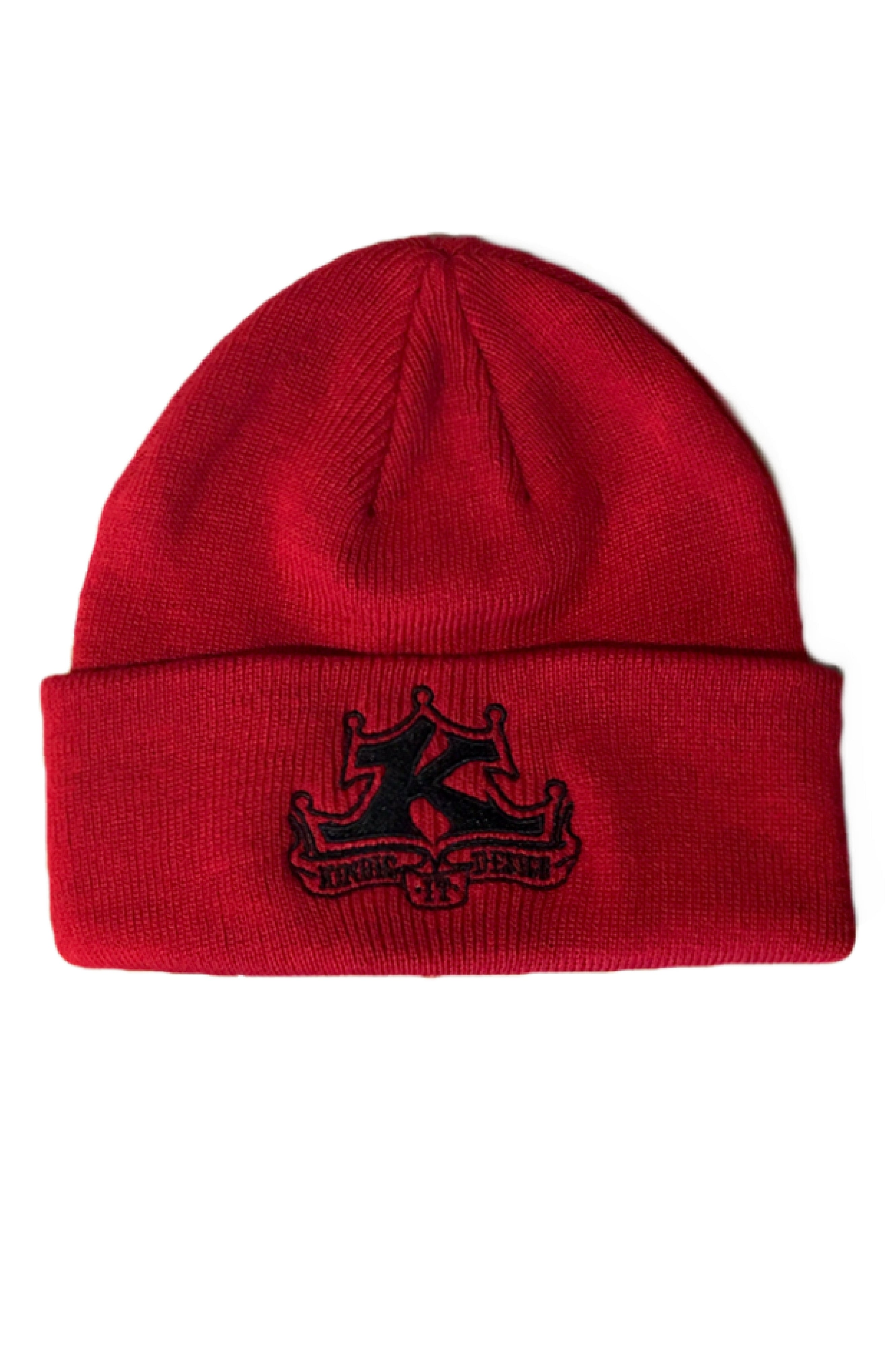 Red Folded Beanie