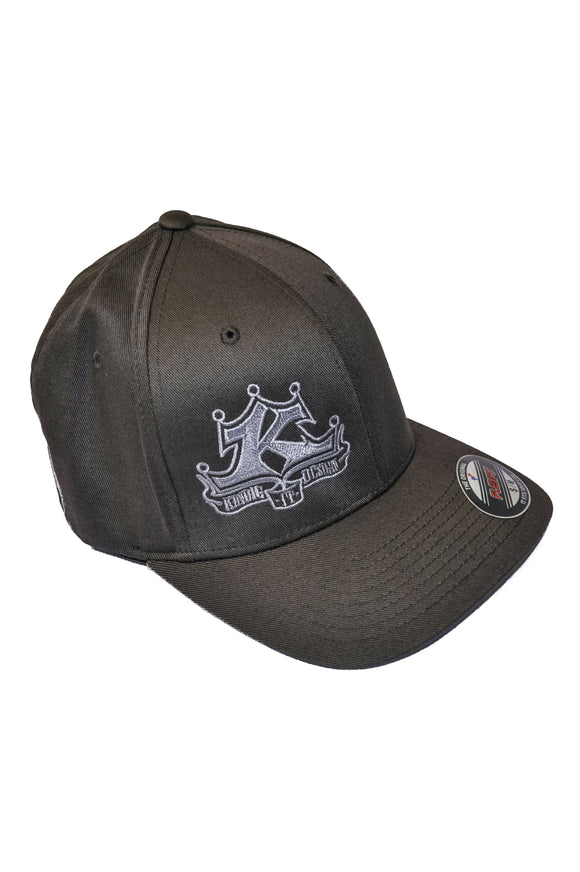 Silver Logo Gray Hat Regular Bill