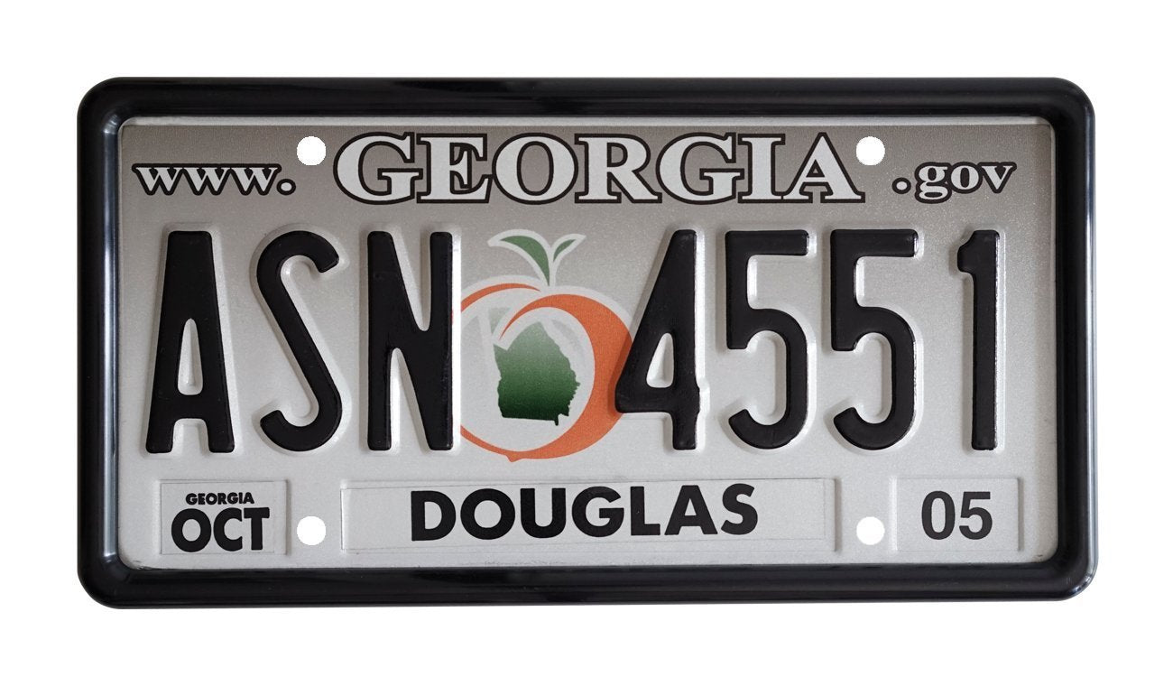 Black Tabless License Plate Frame – Kindig-it Design