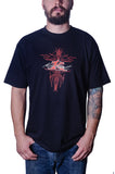 Men's Pinstripe Black T-Shirt