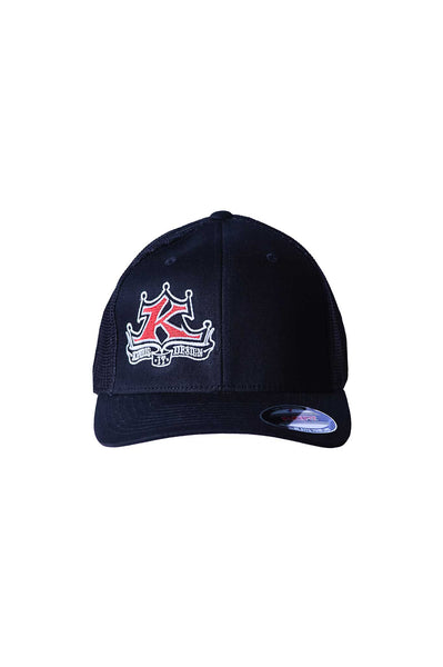 Full Color Logo Regular Bill Black Hat