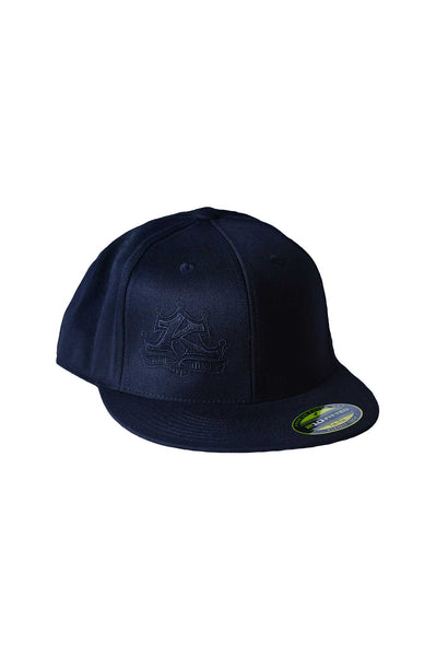 Black on Black Classic Logo Flat Bill