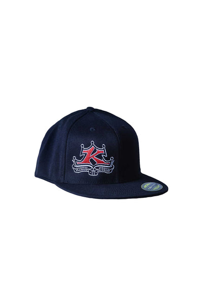 Full Color Logo Flat Bill Black Hat