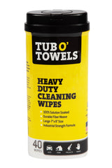 Tub O' Towels® Heavy Duty Cleaning Wipes, 40 Count