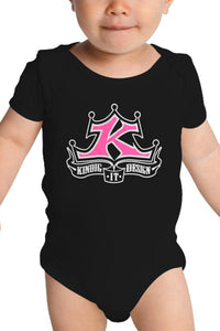 Baby Onesie Pink and White Classic Logo