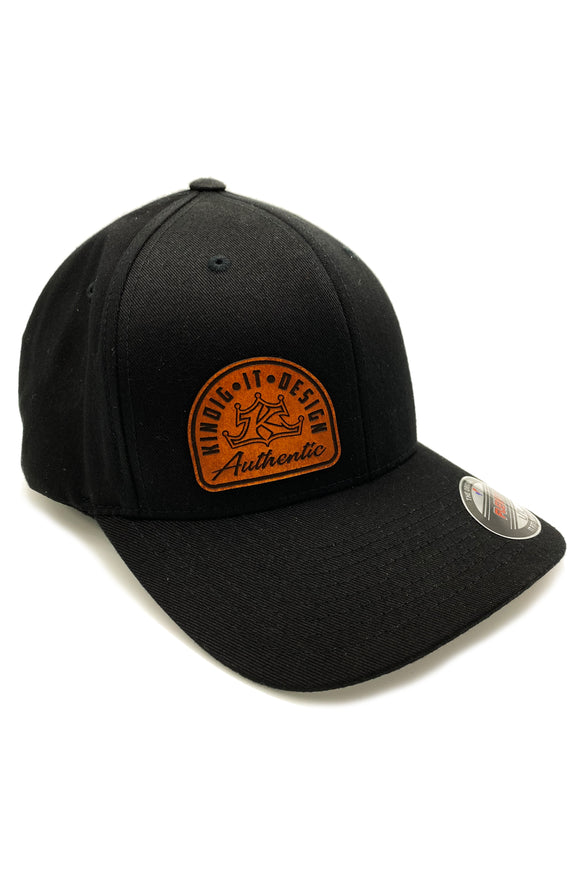 Leather Patch Black Hat