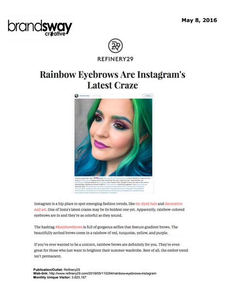 Refinery29: Rainbow Brows