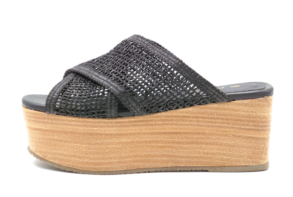 FORMENTERA FISHNET WEDGE - BLACK