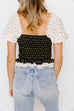 PENNY SMOCKED TOP