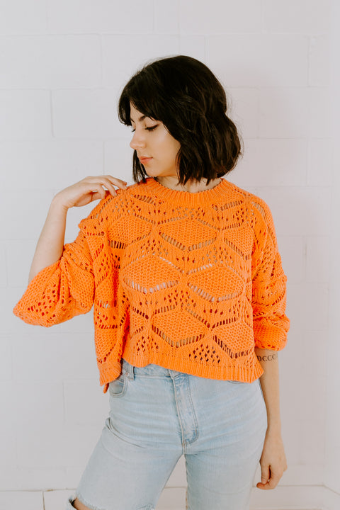 CORAL CHENILLE SWEATER
