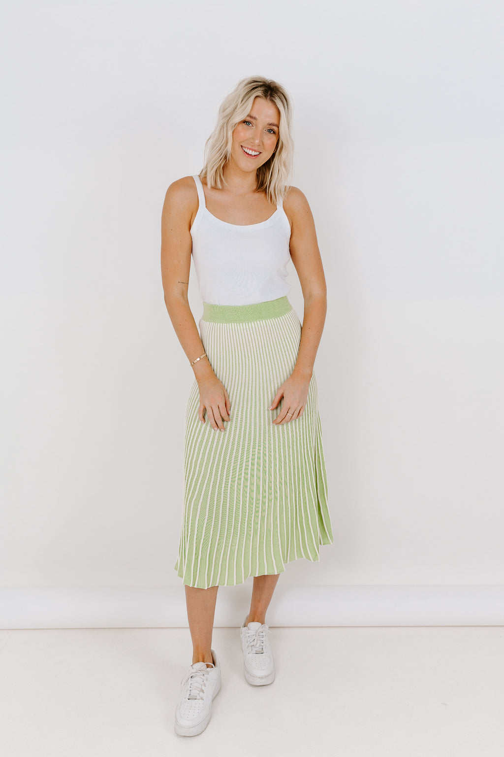 LIME TWO TONE SKIRT