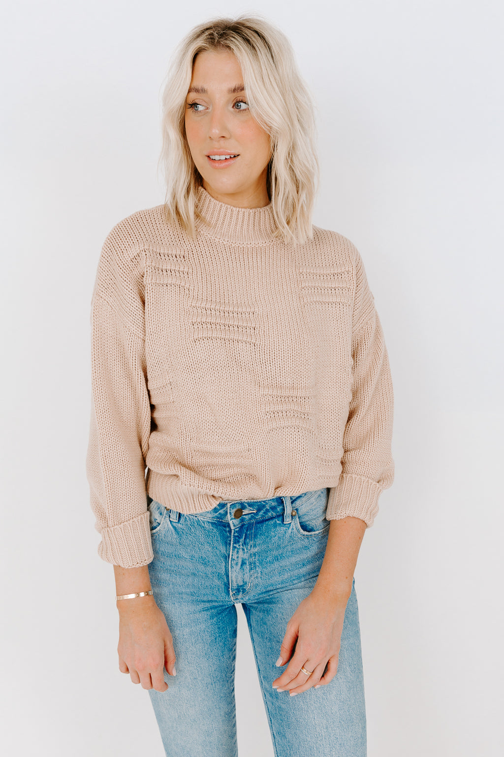 BETTY MOCKNECK SWEATER