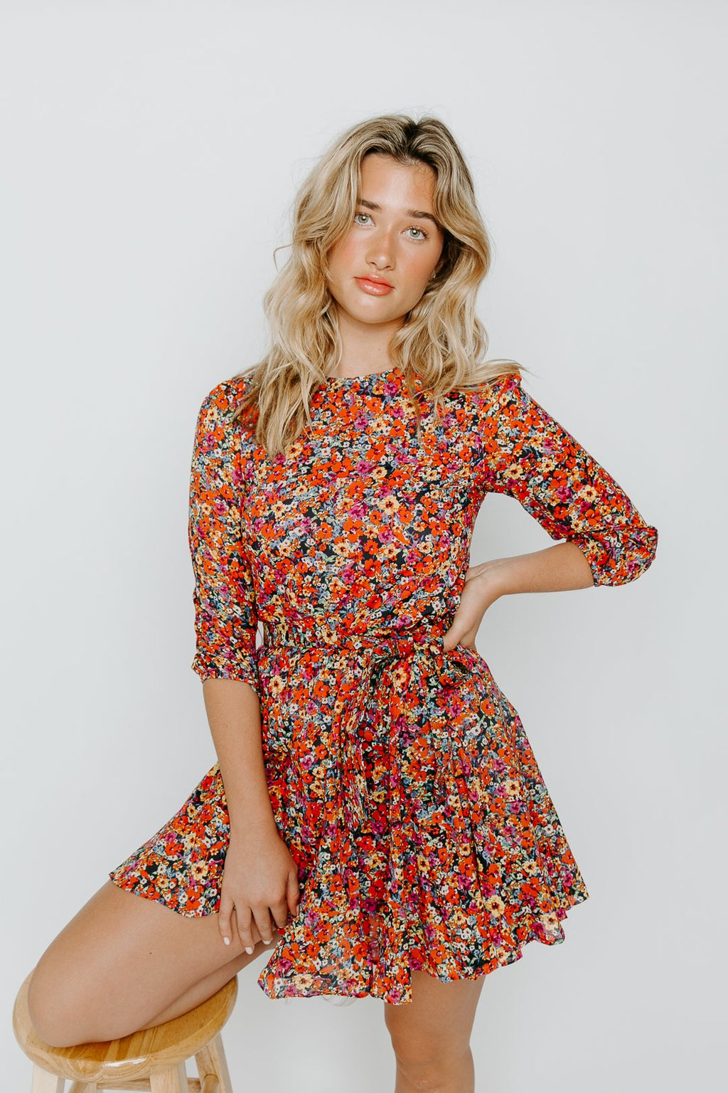 FLORAL ROPE DRESS
