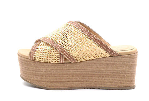 FORMENTERA FISHNET WEDGE - TAN