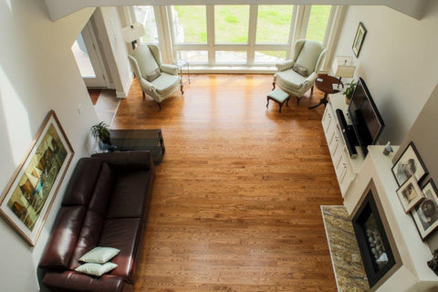 Ash Hardwood Flooring in a modern home
