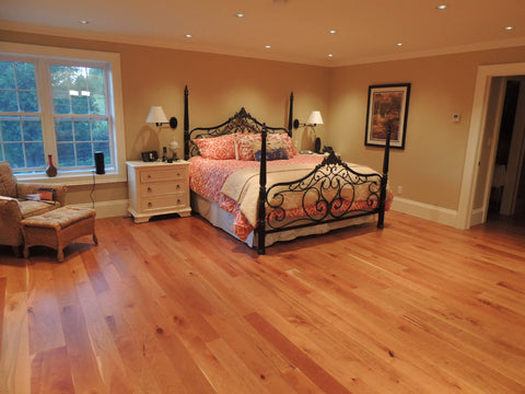 Cherry wood flooring with dark colors