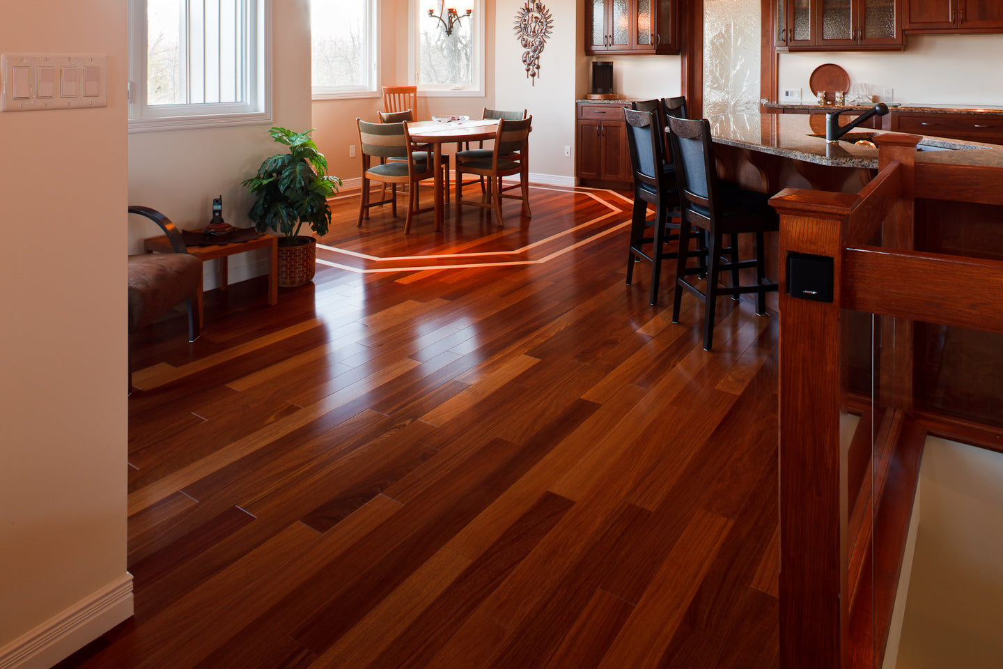 Custom Exotic Hardwood Flooring
