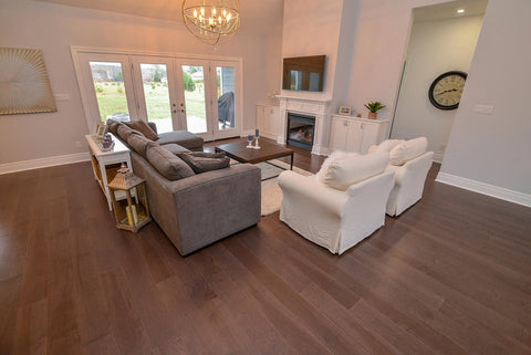 Gaylord Hardwood Engineered in a grey tone