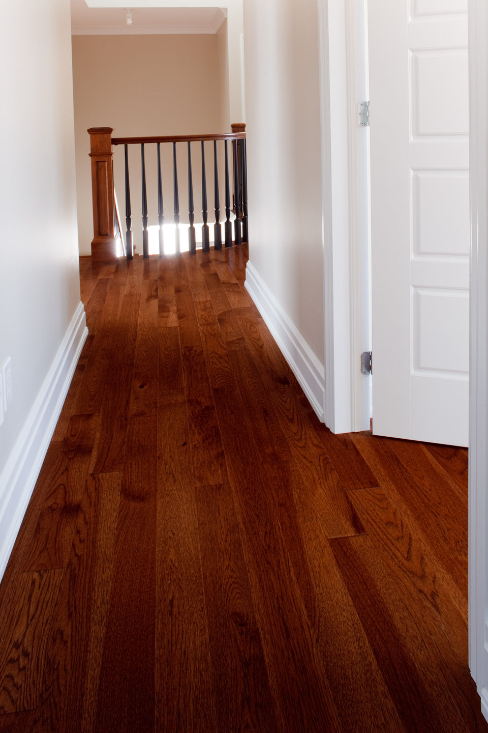 Hickory Hardwood Flooring in a hallway