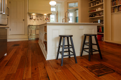 Hickory Hardwood Flooring with a rustic finish